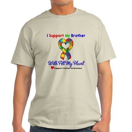 Autism ISupportMy Brother Light T-Shirt