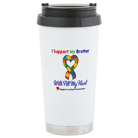 Autism ISupportMy Brother Stainless Steel Travel M