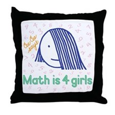 Math is 4 Girls--Throw Pillow