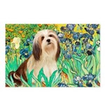 Irises / Lhasa Apso #4 Postcards (Package of 8)