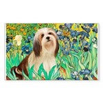 Irises / Lhasa Apso #4 Sticker (Rectangle 10 pk)
