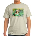 Irises / Lhasa Apso #4 Light T-Shirt