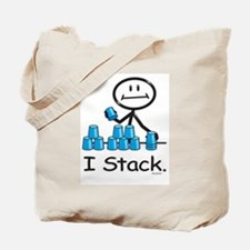 Sport Stacking Blue Cups Tote Bag