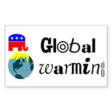 Global Warming Rectangle Decal