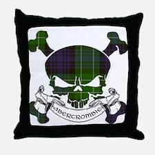 Abercrombie Tartan Skull Throw Pillow