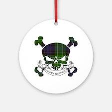 Abercrombie Tartan Skull Ornament (Round)