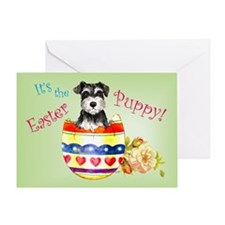 Easter Miniature Schnauzer Greeting Card
