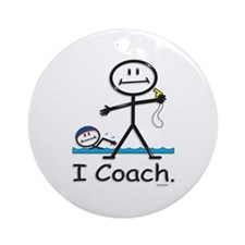 Swimming Coach Ornament (Round)