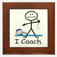 Swimming Coach Framed Tile