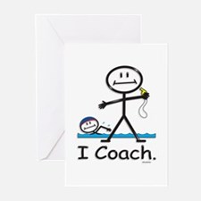 Swimming Coach Greeting Cards (Pk of 10)