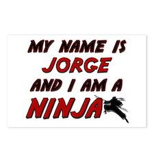 my name is jorge and i am a ninja Postcards (Packa