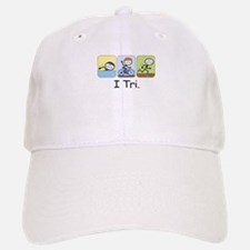 Triathlon Stick Figure Baseball Baseball Cap