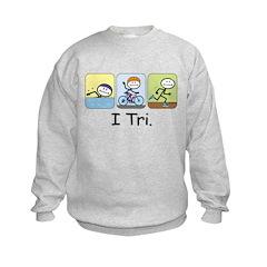 Triathlon Stick Figure Sweatshirt