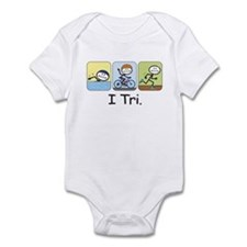 Triathlon Stick Figure Infant Bodysuit