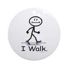 BusyBodies Walking Ornament (Round)