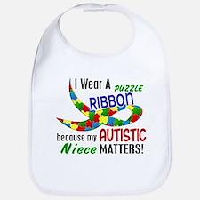 I Wear Puzzle Ribbon Niece 33 Bib