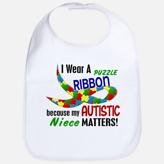I Wear Puzzle Ribbon Niece 33 Bib