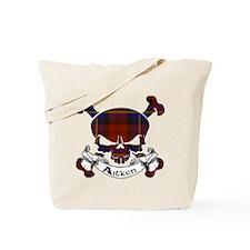 Aitken Tartan Skull Tote Bag
