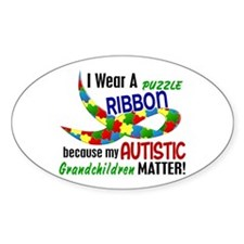 I Wear Puzzle Ribbon Grandchildren 33 Decal