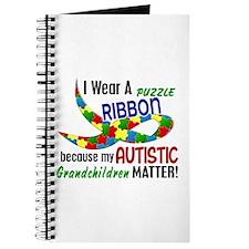 I Wear Puzzle Ribbon Grandchildren 33 Journal