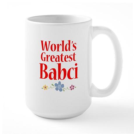 World's Greatest Babci Large Mug