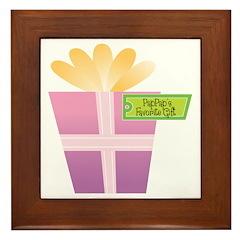 PapPap's Favorite Gift Framed Tile