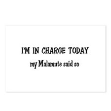 I'm in Charge Malamute Postcards (Package of 8)