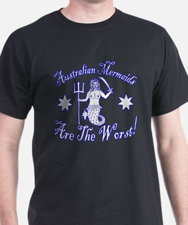 Australian Mermaids White T-Shirt