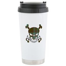 Anderson Tartan Skull Travel Coffee Mug