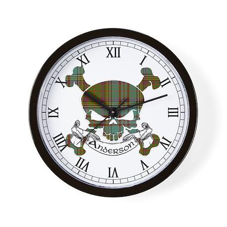 Anderson Tartan Skull Wall Clock