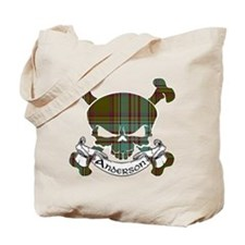 Anderson Tartan Skull Tote Bag