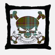 Anderson Tartan Skull Throw Pillow