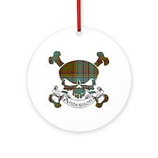 Anderson Tartan Skull Ornament (Round)