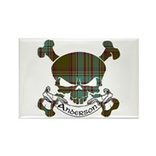 Anderson Tartan Skull Rectangle Magnet