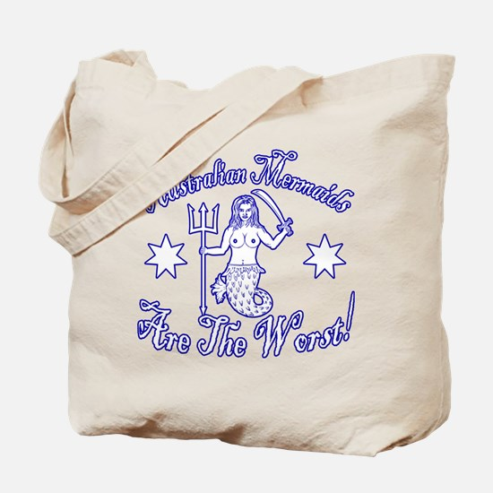 Australian Mermaids White Tote Bag