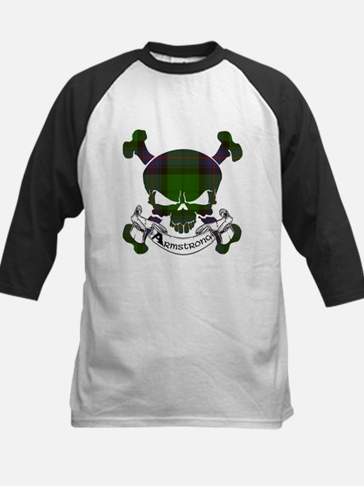 Armstrong Tartan Skull Kids Baseball Jersey