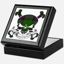 Armstrong Tartan Skull Keepsake Box