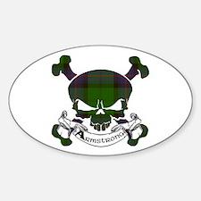 Armstrong Tartan Skull Sticker (Oval)