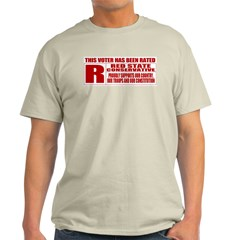 Rated R Red State Conservative Ash Grey T-Shirt