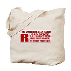 Rated R Red State Conservative Tote Bag