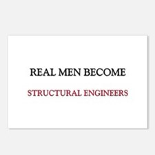 Real Men Become Structural Engineers Postcards (Pa