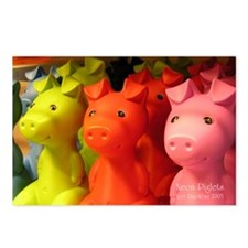 Neon Piglets Postcards (Package of 8)