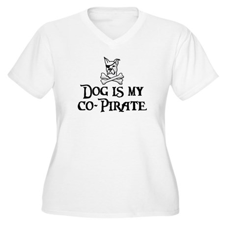 Co-Pirate Women's Plus Size V-Neck T-Shirt