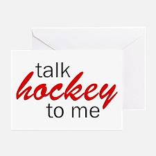 Talk hockey script Greeting Cards (Pk of 10)