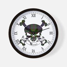 Baird Tartan Skull Wall Clock