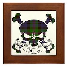 Baird Tartan Skull Framed Tile