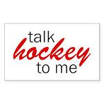 Talk hockey script Rectangle Sticker