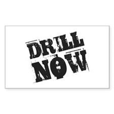 Drill Now Rectangle Decal