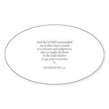 DEUTERONOMY 4:14 Oval Decal