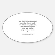 DEUTERONOMY 4:14 Oval Decal